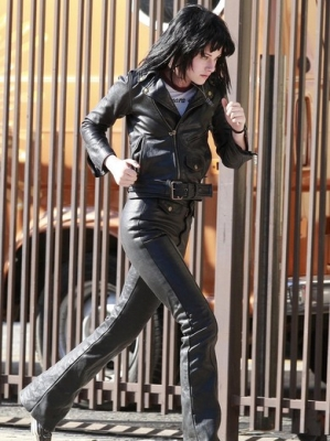 Kristen as Joan Jett in The Runaways