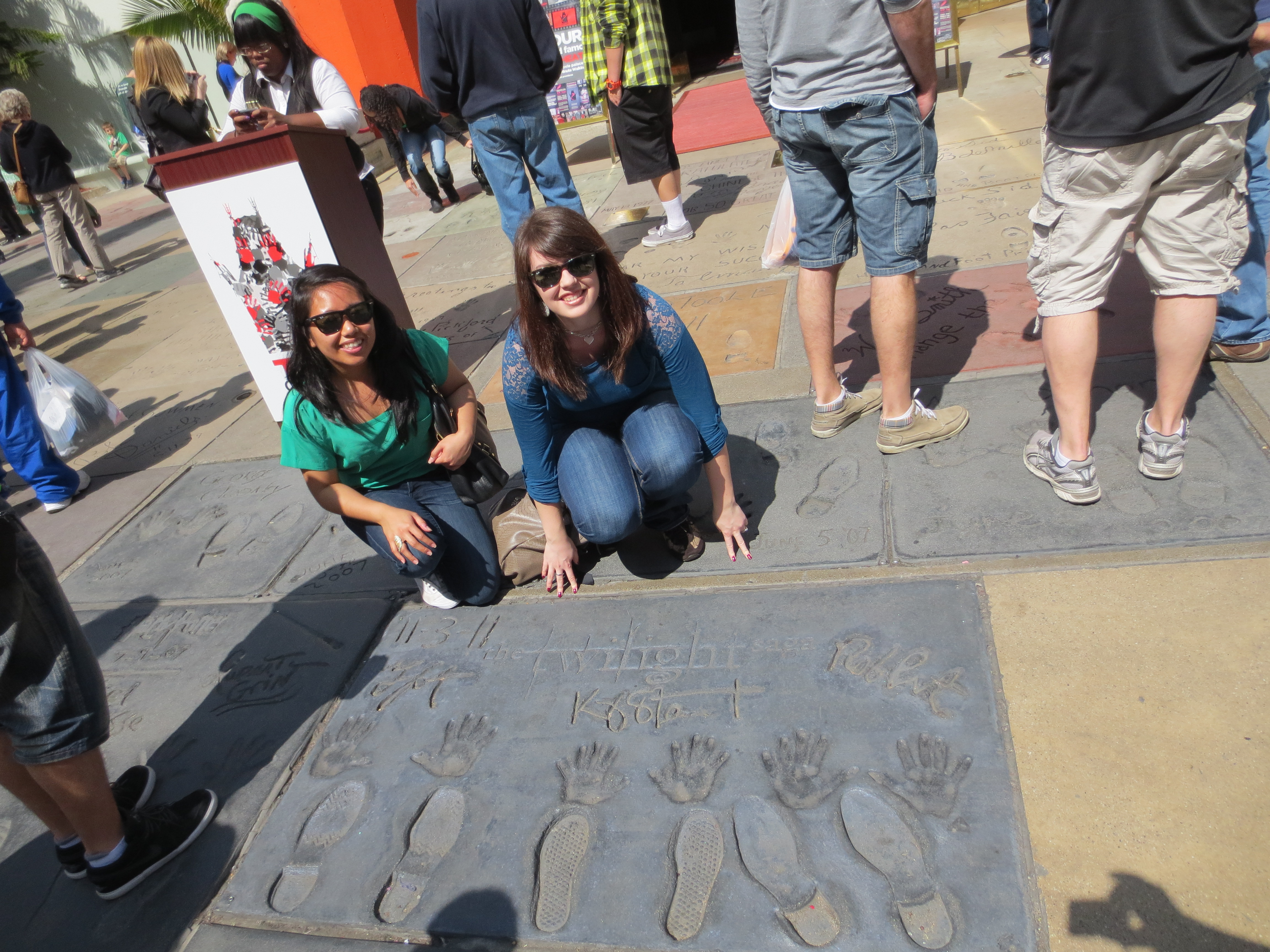 Me and my friend Jasmine at the Chinese Theater :) I'm the blindingly white one.