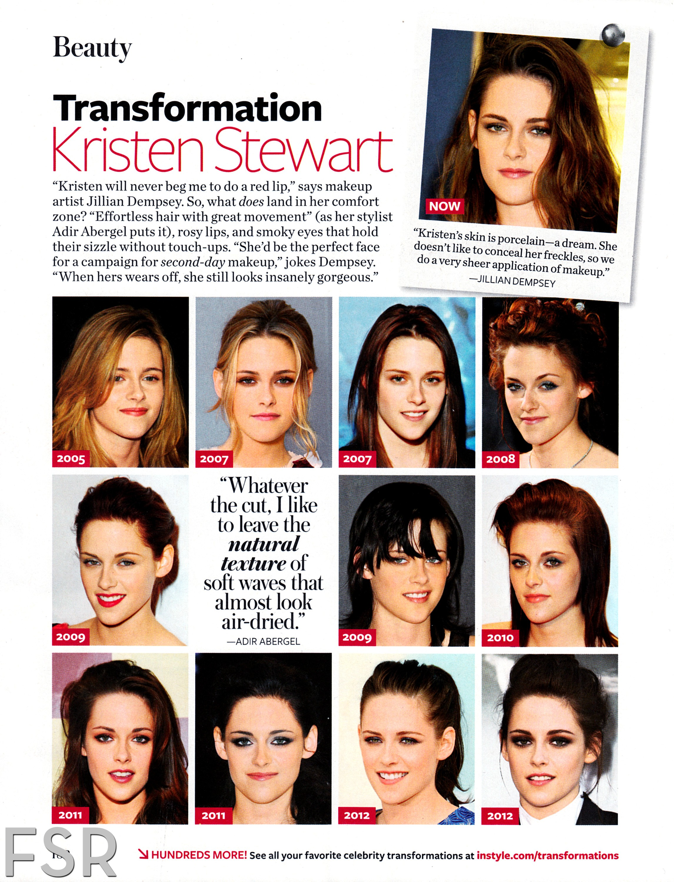 "Kristen in ""Instyle"" Magazine's 'Transformation' February 2013 Issue"